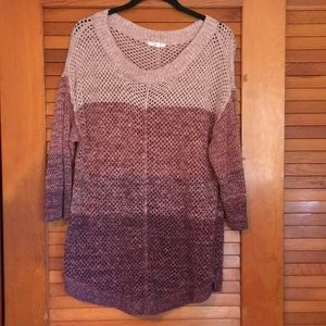 Purple ombré lightweight sweater